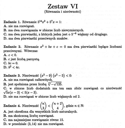 testy maturalne matematyka 2021