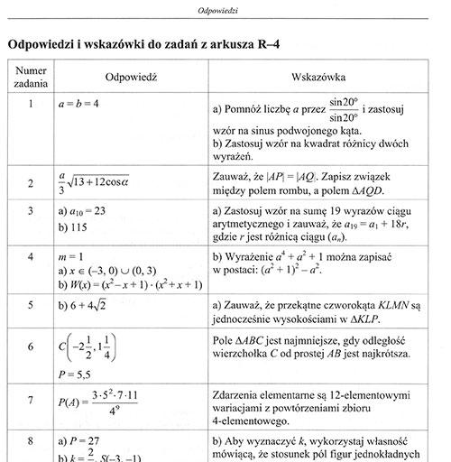 próbna matura z matematyki pazdro